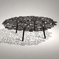 Mesa de centro / de diseño original / de acero / redonda