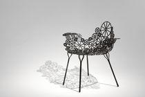 Sillón de acero / para jardín / de diseño original