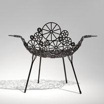 Sillón de diseño original / de acero / para jardín