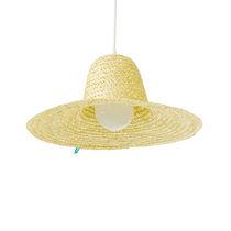 Lámpara suspendida / de diseño original / de fresno / de fibras naturales