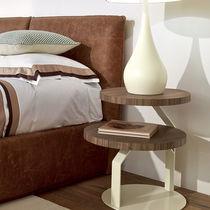 Mesilla de noche moderna / de madera / de metal / redonda