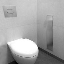 Dispensador de papel higiénico empotrable / de acero inoxidable / profesional