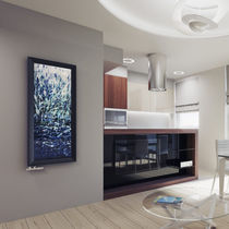 Radiador de agua caliente / de vidrio / moderno / rectangular