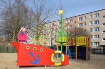 Estación de juego de HPL / de madera / para parque infantil