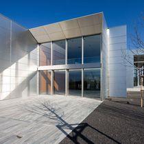 Muro cortina estructura autoportante / de vidrio / de acero / de acero inoxidable