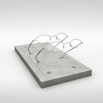 Expositor en encimera / para óptica / de hormigón / para comercio