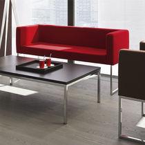 Sofá moderno / de cuero / de metal / para uso profesional