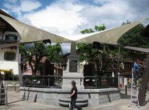 Parasol de lona / para espacio público / para parque infantil / para aparcamiento