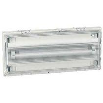 Iluminación de emergencia mural / rectangular / fluorescente / IP42