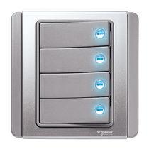 Interruptor pulsador / doble / de metal / moderno