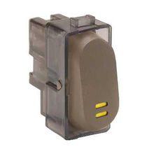 Interruptor pulsador / moderno / marrón / negro