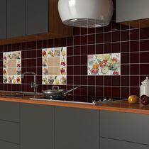 Baldosa para cocina / de pared / de cerámica / con motivos para cocina