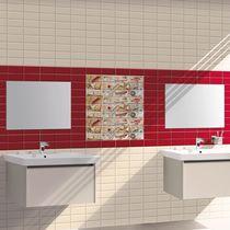 Baldosa de pared / de cerámica / con motivos / brillante