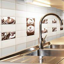 Baldosa para cocina / de pared / de cerámica / con motivos
