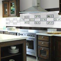 Baldosa para cocina / de pared / de cerámica / con motivos de la naturaleza