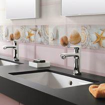 Baldosa para baño / de pared / de cerámica / con motivos de la naturaleza