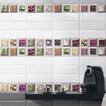 Baldosa de pared / de cerámica / con motivos de cocina / brillante