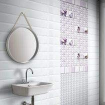 Baldosa para baño / de pared / de cerámica / color liso