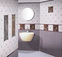 Baldosa para baño / de pared / de cerámica / con motivos de escenas