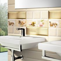 Baldosa para baño / de pared / de cerámica / con motivos