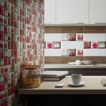 Baldosa para cocina / de pared / de cerámica / con motivos geométricos