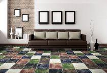 Baldosa para pavimento / de cerámica / color liso / pulida