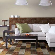 Baldosa para pavimento / de cerámica / color liso / brillante
