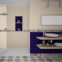 Baldosa para pavimento / de pared / de cerámica / con motivos
