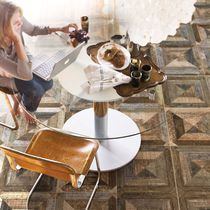 Baldosa de efecto madera / para pavimento / de cerámica / con motivos geométricos