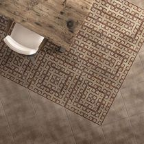 Baldosa para pavimento / de cerámica / color liso / con motivos geométricos