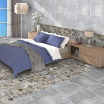 Baldosa para pavimento / de pared / de cerámica / con motivos geométricos