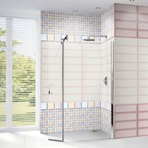 Baldosa para baño / de pared / de cerámica / con motivos geométricos