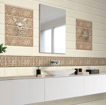 Baldosa de pared / de cerámica / con motivos animales / brillante