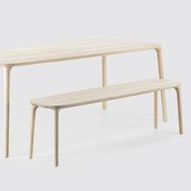 Banco moderno / de roble / de madera maciza / de fresno