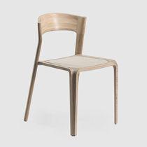 Silla moderna / ecoetiqueta FSC / de roble / de madera maciza