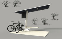Marquesina para bicicletas de acero / con panel solar
