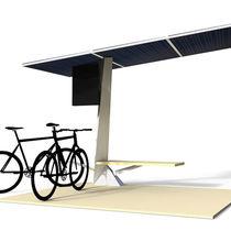 Marquesina para bicicletas con panel solar