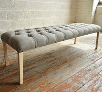 Banco de estilo / de madera / de tejido / tapizado