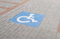 Adoquín de piedra / para peatones / transitable / con pictograma para discapacitados