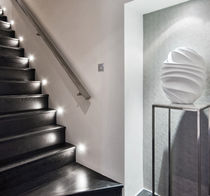 Luminaria empotrable de pared / LED / cuadrada / de aluminio