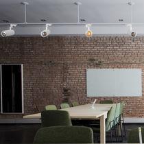Iluminación sobre riel LED / redonda / de aluminio / profesional