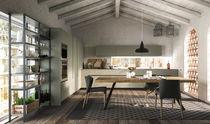 Cocina moderna / de chapa de madera / de madera / con isla