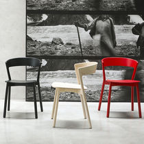 Silla moderna / de haya / de madera maciza / de fresno