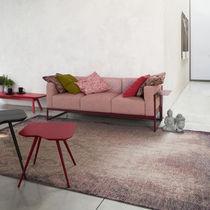 Sofá moderno / de tela / 3 plazas / marrón