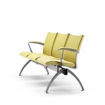 Hileras de sillas de metal / de tejido / 3 plazas / 2 plazas