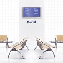 Hileras de sillas de metal / de contrachapado / de haya / de cuero