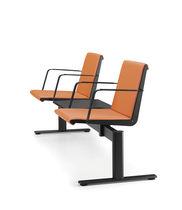 Hileras de sillas de metal / de tela / 3 plazas / 2 plazas