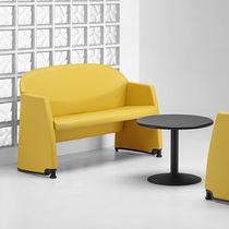 Sofá moderno / de acero / para edificio público / para hotel