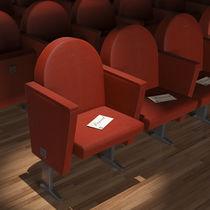 Butaca de auditorio moderno / de tela / con reposabrazos / para teatro