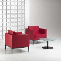 Mesa de centro moderna / de vidrio / de metal / de MDF